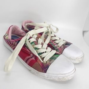 Tommy Hilfiger Alabama Plaid Red Sneakers Shoes